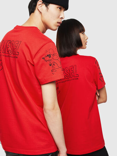 Diesel - CL-T-DIEGO-3, Rosso - T-Shirts - Image 3