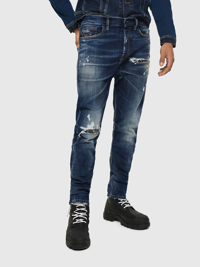 Diesel - D-Vider 0090G, Blu Scuro - Jeans - Image 1