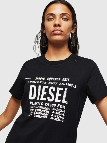 Diesel - T-SILY-ZF, Nero - T-Shirts - Image 3