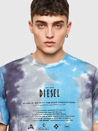 Diesel - T-JUST-E13, Grigio/Blu - T-Shirts - Image 3