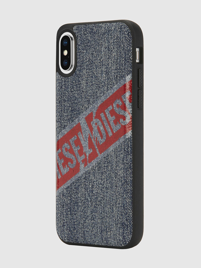 Diesel - VINTAGE DENIM IPHONE X CASE, Blu Jeans - Cover - Image 5