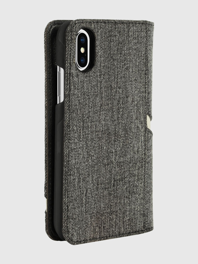 Diesel - DIESEL 2-IN-1 FOLIO CASE FOR IPHONE XS & IPHONE X, Grigio - Cover a libro - Image 5