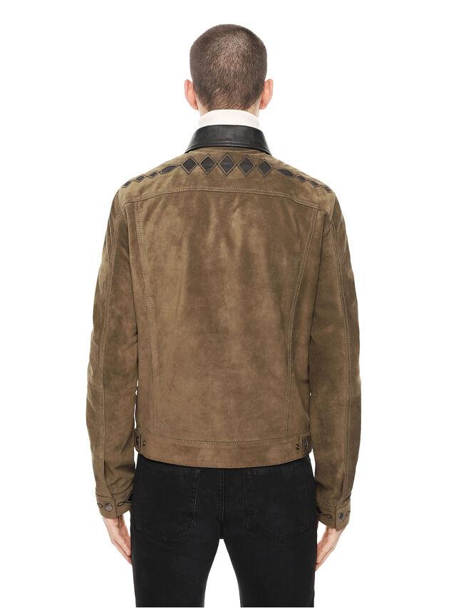 Diesel - LYRICH, Verde/Nero - Giacche di pelle - Image 2