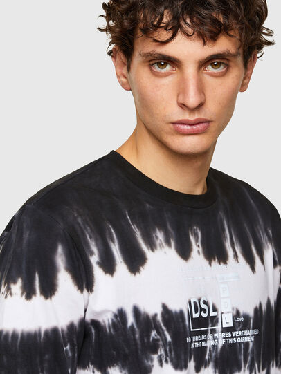 Diesel - T-JUST-A38, Nero/Bianco - T-Shirts - Image 3
