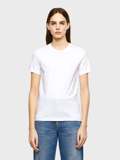 Diesel - T-SILY-K9, Bianco - T-Shirts - Image 1