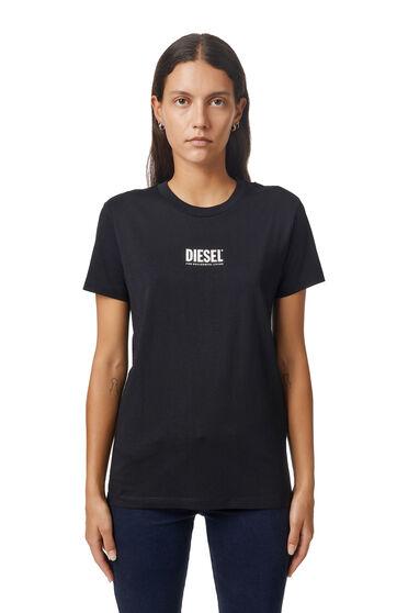 T-shirt con piccola stampa 3D del logo
