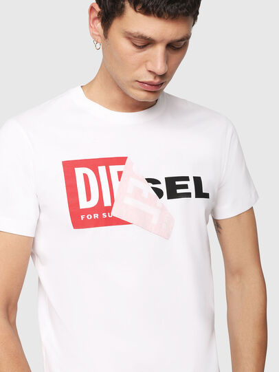 Diesel - T-DIEGO-QA, Bianco - T-Shirts - Image 3
