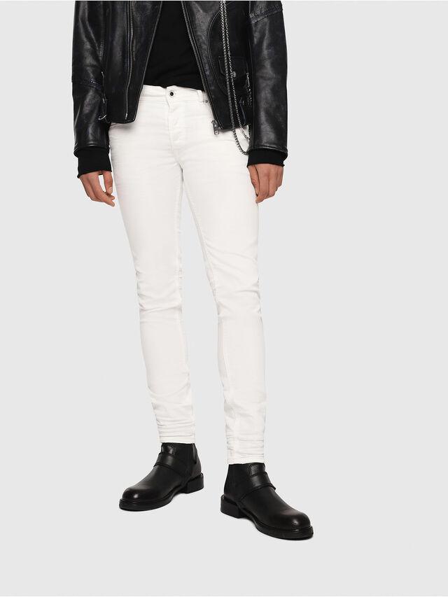 Diesel - Sleenker 084CY, Bianco - Jeans - Image 1
