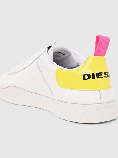 Diesel - S-CLEVER LOW LACE W, Bianco/Giallo - Sneakers - Image 5