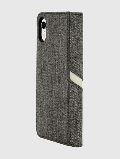 Diesel - DIESEL 2-IN-1 FOLIO CASE FOR IPHONE XR, Grigio - Cover a libro - Image 5
