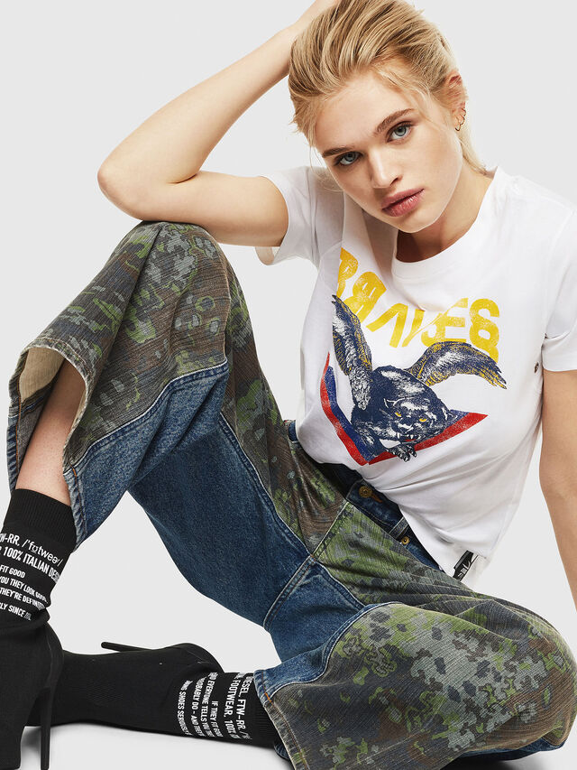 Diesel - T-SILY-WP, Bianco - T-Shirts - Image 4