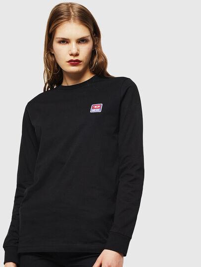 Diesel - T-DIEGO-DIV-LS, Nero - T-Shirts - Image 2