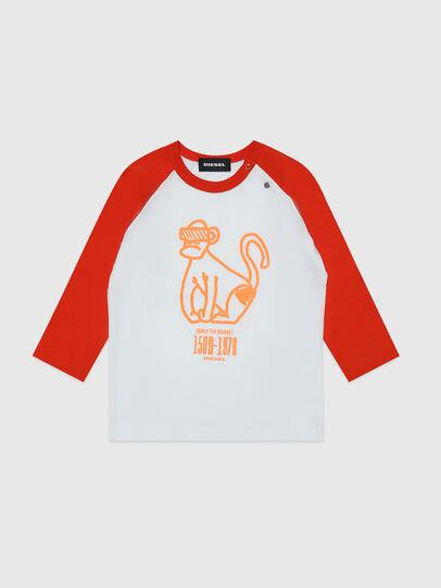 Diesel - TBALYB, Bianco/Arancione - T-shirts e Tops - Image 1