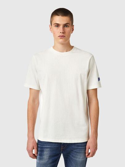 Diesel - T-JUST-B67, Bianco - T-Shirts - Image 1
