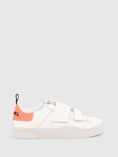 Diesel - S-CLEVER LOW STRAP W, Bianco/Rosa - Sneakers - Image 1