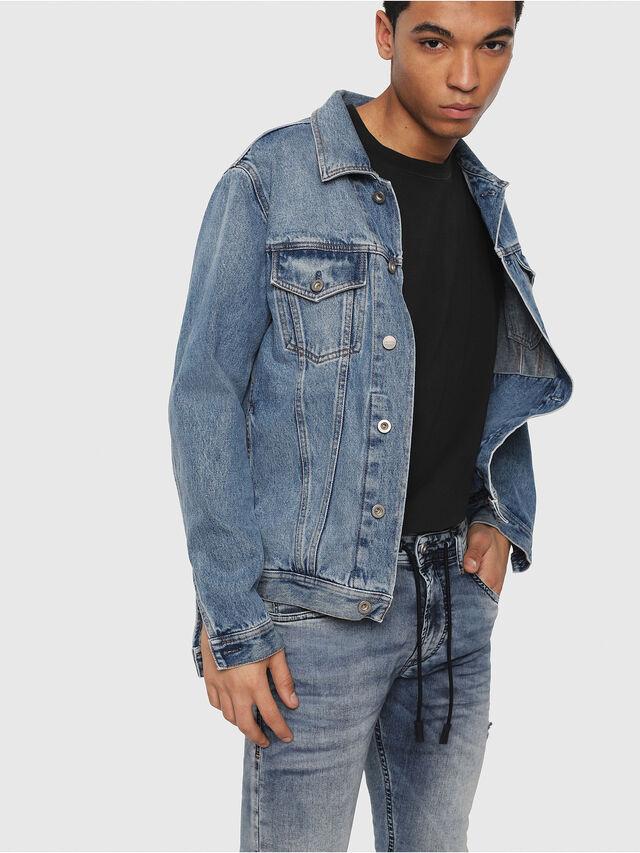 Diesel - Thommer JoggJeans 069FC, Blu medio - Jeans - Image 3