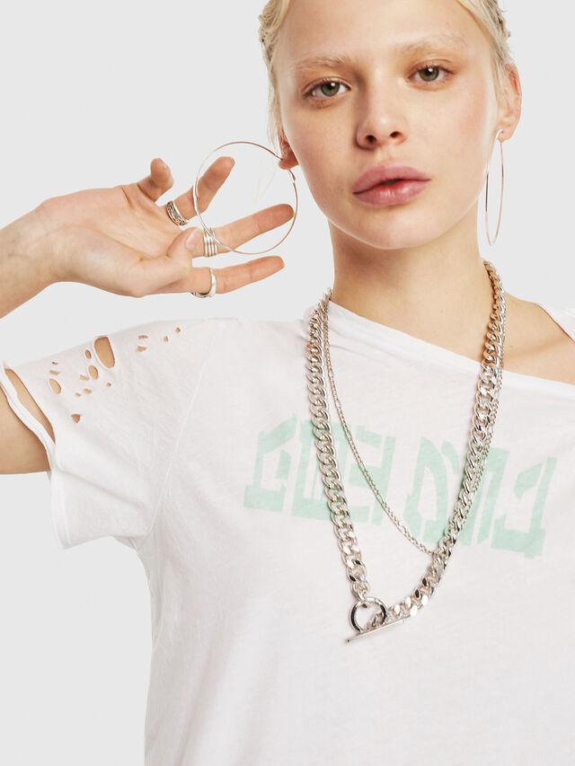 Diesel - T-FLAVIA-G, Bianco - T-Shirts - Image 4