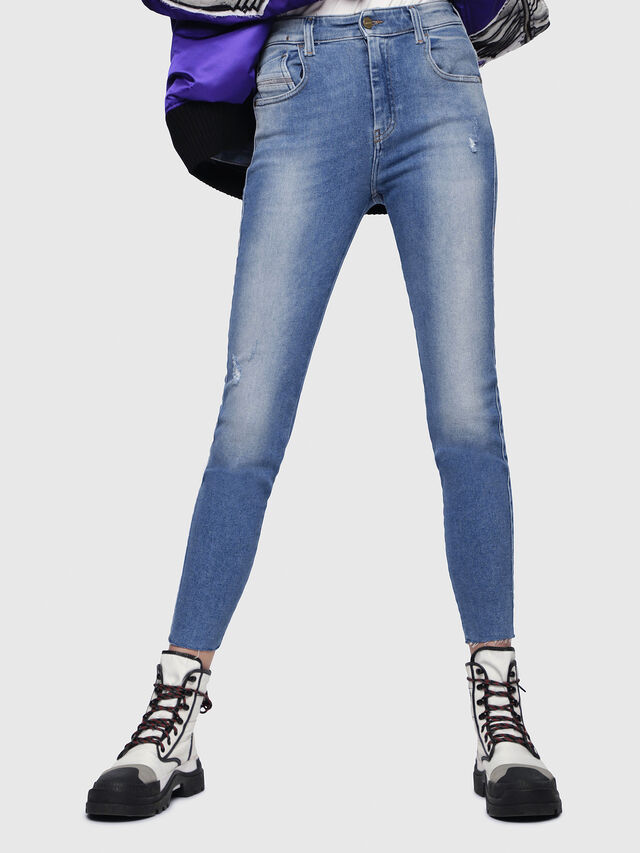Diesel - Slandy High 086AB, Blu Chiaro - Jeans - Image 1