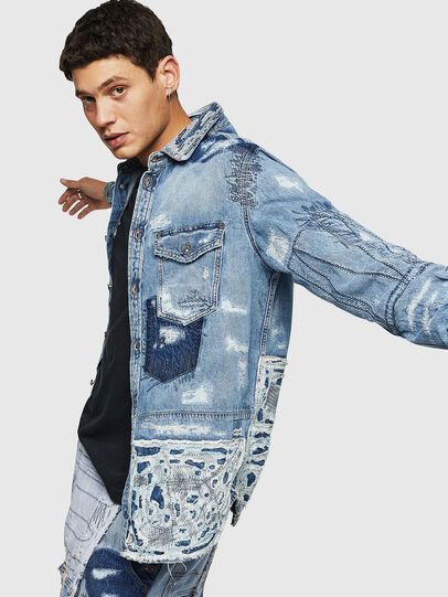 Diesel - D-HISAKY-SY, Blu Jeans - Camicie in Denim - Image 4