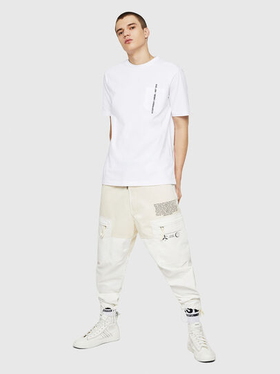 Diesel - T-JUST-POCKET-COPY, Bianco - T-Shirts - Image 5