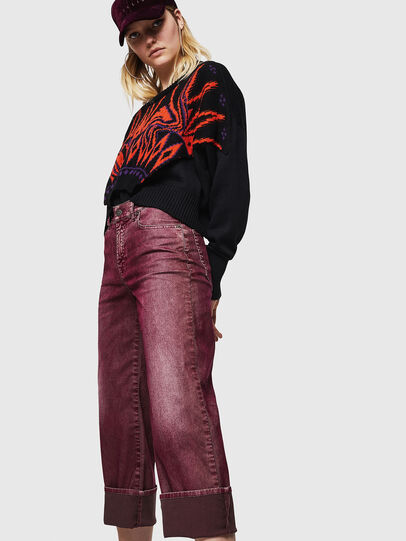 Diesel - Widee 0091T, Borgogna - Jeans - Image 3