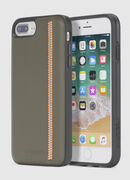 ZIP OLIVE LEATHER IPHONE 8 PLUS/7 PLUS/6s PLUS/6 PLUS CASE, Verde Oliva - Cover