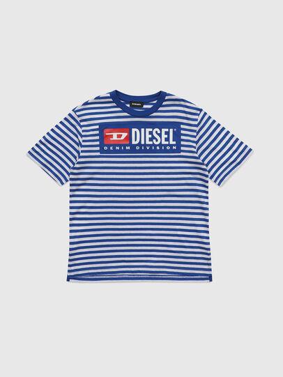 Diesel - TVIKTOR OVER, Blu/Bianco - T-shirts e Tops - Image 1