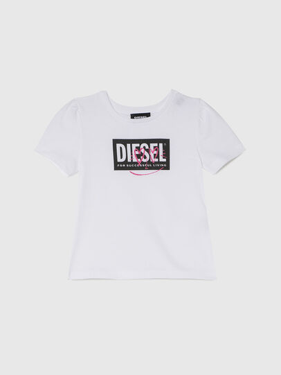 Diesel - TRIDGEB-R, Bianco - T-shirts e Tops - Image 1