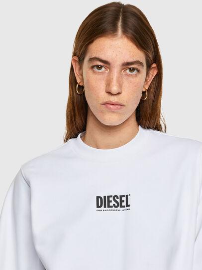 Diesel - F-ANG-SMALLOGO, Bianco - Felpe - Image 3