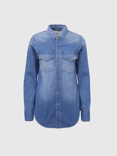 Diesel - DE-RINGY, Blu Chiaro - Camicie in Denim - Image 1