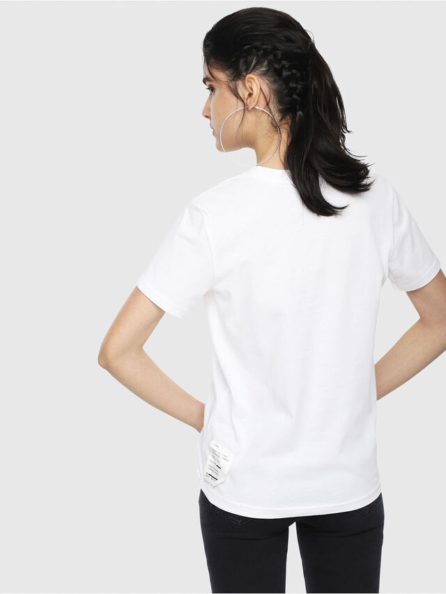 Diesel - T-SILY-WL, Bianco - T-Shirts - Image 2