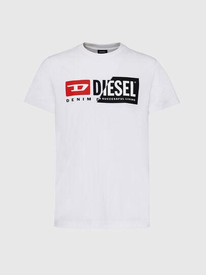 Diesel - T-DIEGO-CUTY, Bianco - T-Shirts - Image 1