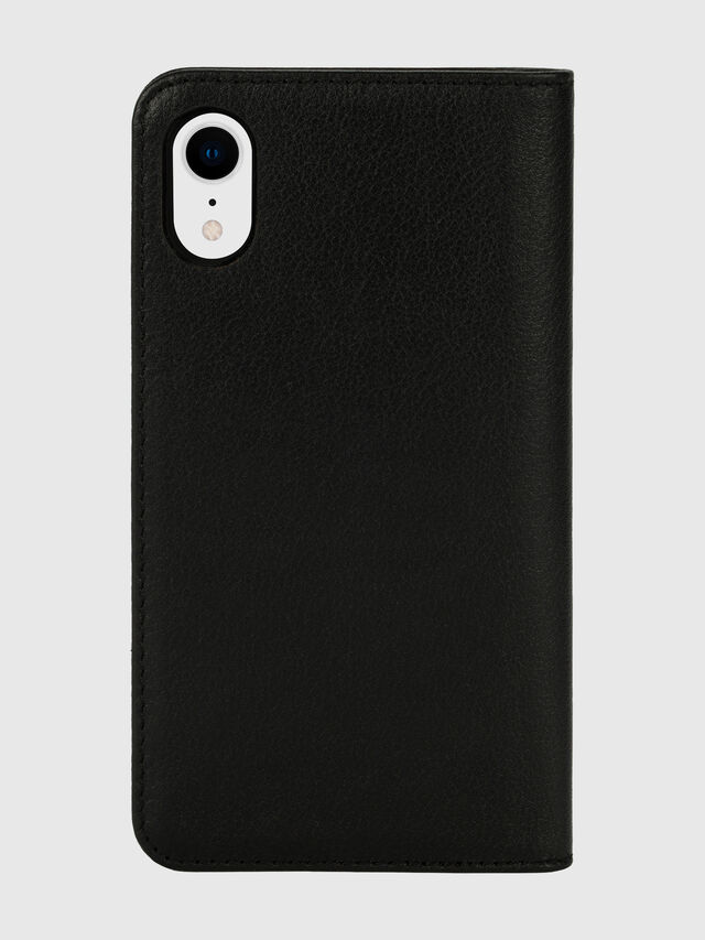 Diesel - DIESEL 2-IN-1 FOLIO CASE FOR IPHONE XR, Nero/Bianco - Cover a libro - Image 2