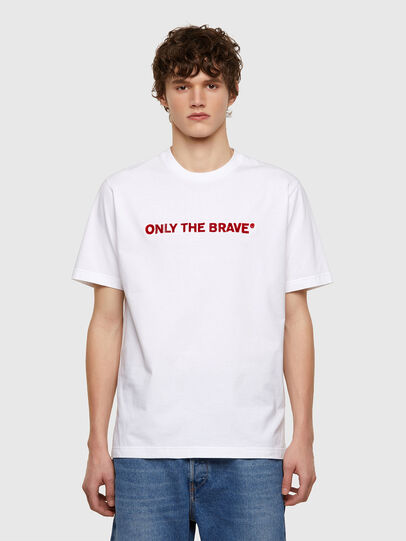 Diesel - T-JUST-E4, Bianco - T-Shirts - Image 1
