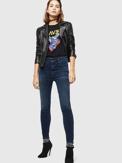 Diesel - Slandy High 084UT, Blu Scuro - Jeans - Image 5