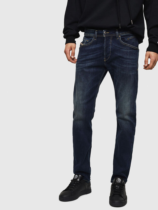 Diesel Belther 0814W, Blu Scuro - Jeans - Image 1