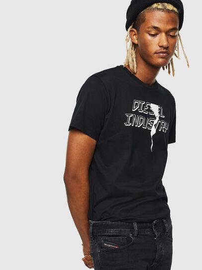 Diesel - T-DIEGO-J25, Nero - T-Shirts - Image 4
