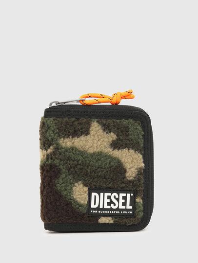Diesel - PI-ZIP, Verde Camo - Portafogli Con Zip - Image 1