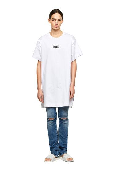Abito T-shirt con piccola stampa con logo