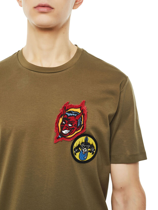 Diesel - TY-PATCHES, Verde Militare - T-Shirts - Image 3