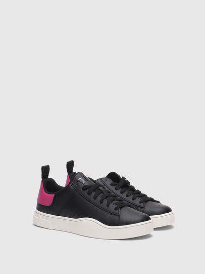 Diesel - S-CLEVER LOW LACE W, Nero/Rosa - Sneakers - Image 2