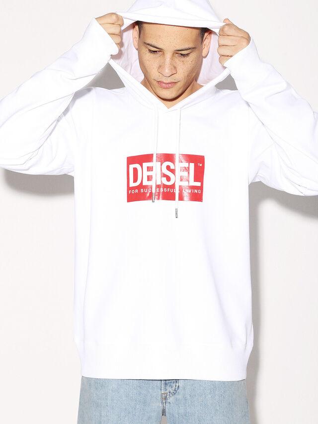 Diesel - DEIS-SHOOD, Bianco - Felpe - Image 2