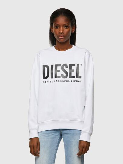 Diesel - F-ANGS-ECOLOGO, Nero/Bianco - Felpe - Image 1