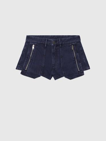 Shorts in denim overdyed