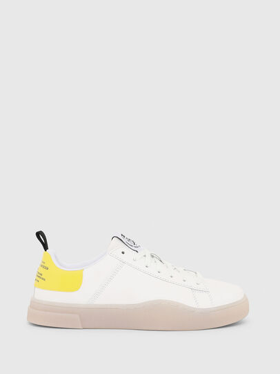 Diesel - S-CLEVER LOW LACE W, Bianco/Giallo - Sneakers - Image 1