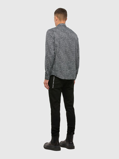 Diesel - S-EAST-LONG-AN, Nero - Camicie - Image 5
