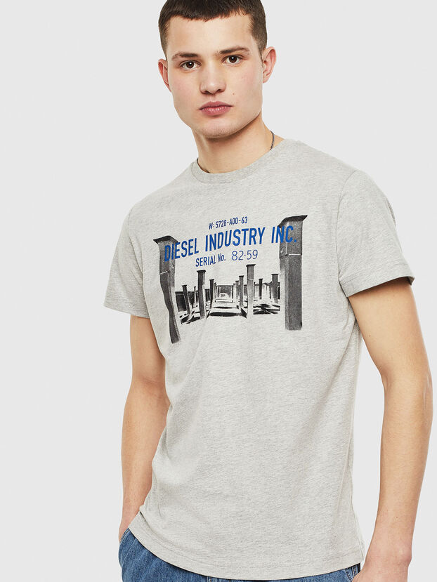 T-DIEGO-S13, Grigio - T-Shirts