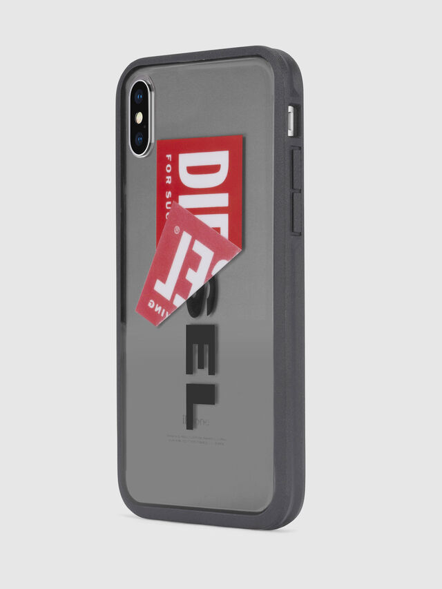 Diesel - STICKER IPHONE X CASE, Nero - Cover - Image 3