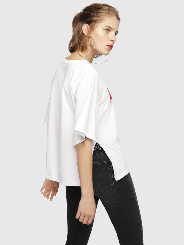 Diesel - T-JACKY-D, Bianco - T-Shirts - Image 2