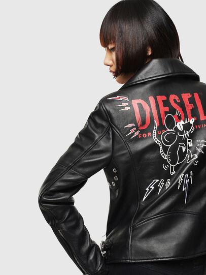 Diesel - CL-L-LYFA-BIGM, Nero - Giacche di pelle - Image 2